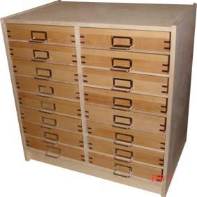 Insektsskåp med 16 lådor
